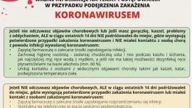 Informacje w związku z kolejnymi przypadkami zarażenia koronawirusem w Polsce Kliknięcie w obrazek spowoduje wyświetlenie jego powiększenia