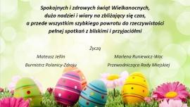 Spokojnych i zdrowych świąt Wielkanocnych, dużo nadziei i wiary na zbliżający się czas, a przede wszystkim szybkiego powrotu do rzeczywistości pełnej spotkań z bliskimi i przyjaciółmi