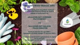 Światowy Dzień Ziemi - konkurs na ogródek przydomowy oraz ukwiecony balkon Kliknięcie w obrazek spowoduje wyświetlenie jego powiększenia