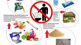 Przyczyny awarii - czego nie należy wrzucać do kanalizacji sanitarnej Kliknięcie w obrazek spowoduje wyświetlenie jego powiększenia