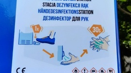 W Polanicy zainstalowano 3 ogólnodostępne stacje do dezynfekcji rąk Kliknięcie w obrazek spowoduje wyświetlenie jego powiększenia