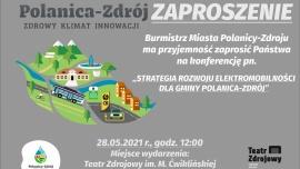 """Zaproszenie na konferencję """"Strategia rozwoju elektromobilności dla gminy Polanica-Zdrój"""" Kliknięcie w obrazek spowoduje wyświetlenie jego powiększenia"""