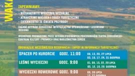 Harmonogram wakacyjnych wycieczek po Polanicy i okolicach! Kliknięcie w obrazek spowoduje wyświetlenie jego powiększenia